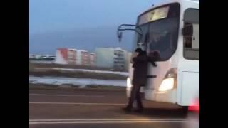Вот так выгуливают автобусы в Алматы