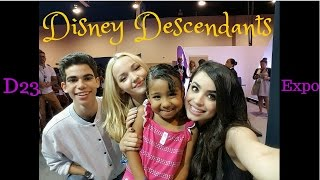 "Disney Descendants at D23 Expo 2015 and  Dancing ""Rotten to the Core"" Just Dance Disney Party 2"