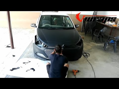 Hyundai i20 sportz vinyl wrapping black matt | i20  modification