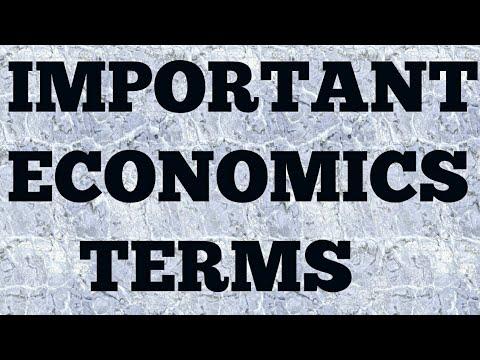 Important Economics Terms | Economy | ssc cgl chsl ibps po clerk upsc | studyvlogz |
