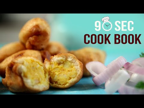How To Make Bread Roll | 90 Seconds Cook Book | Veg Potato Snack | Quick & Easy Snacks Recipe