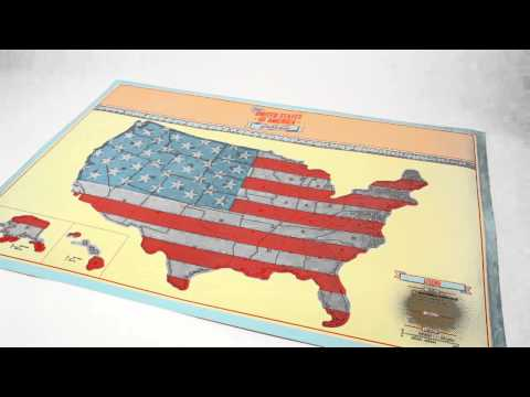 Youtube-Video zur Scratch Map U.S.A. Edition von Luckies
