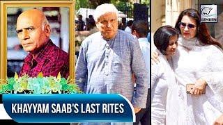 Music Composer Khayyam Saab's Last Rites   Javed Akhtar, Sanjay Khan   LehrenTV
