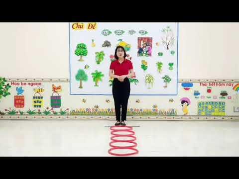 Mẫu giáo 4-5 tuổi - Bật liên tục qua 5 ô