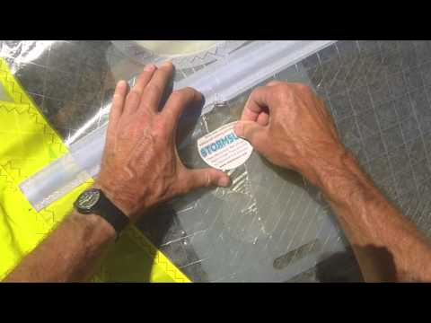 Windsurfing Wave Sail Repair with Stormsure Self-Adhesive Patches