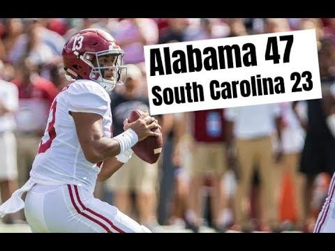 Alabama Crimson Tide Football vs. South Carolina post game report with Kyle Henderson