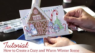 How to Create a Cozy & Warm Winter Scene with the Candy Cane Cottage Collection