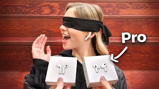 I Gave New AirPods To Strangers... But Made Them Choose! (AirPods vs AirPods Pro)