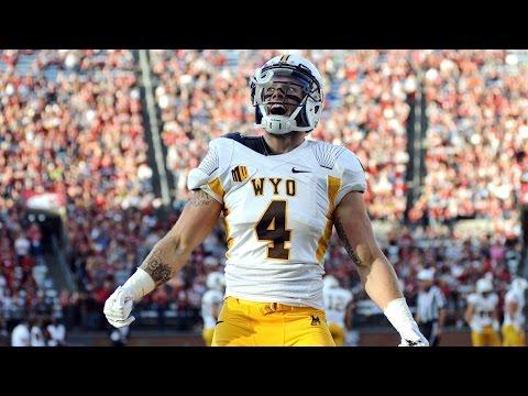Wyoming WR Tanner Gentry Reaches Around Defender For Insane TD Catch   CampusInsiders