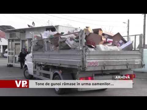 Tone de gunoi rămase în urma oamenilor…
