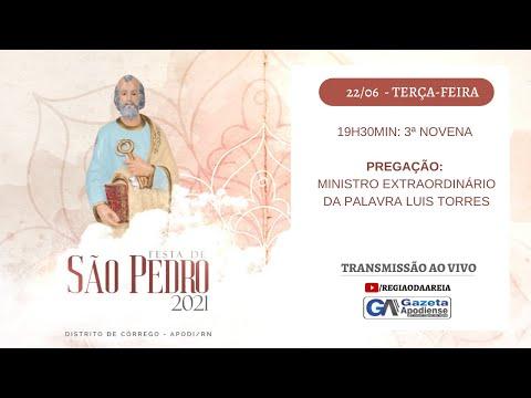 3ª noite de novena da festa de São Pedro do Córrego 2021 em Apodi