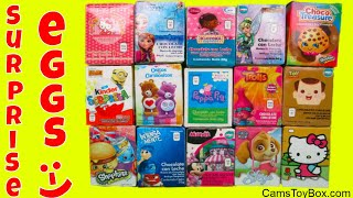 Chocolate Surprise Eggs Disney Frozen Hello Kitty Shopkins Paw Patrol Peppa Pig Care Bears Trolls