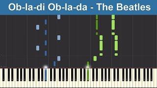 Ob-la-di Ob-la-da - The Beatles - Synthesia Piano Tutorial