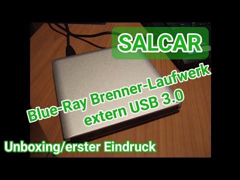 Salcar externes Blue-Ray Laufwerk/Brenner Unboxing + erster Eindruck