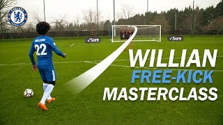 #Willian's Free-Kick Masterclass! | How To Take The PERFECT #Free-Kick With Sure