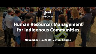 Human Resources Management for Indigenous Communities Session