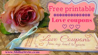 Love coupon   Free printable DIY goft for your boyfriend or husband