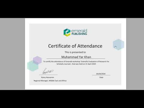 Free Online Certificate | Emerald Free Courses | Becoming a world ...