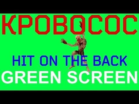 "ФУТАЖ - ""GREEN SCREEN"" HIT ON THE BACK КРОВОСОС  (С.Т.А.Л.К.Е.Р.)"