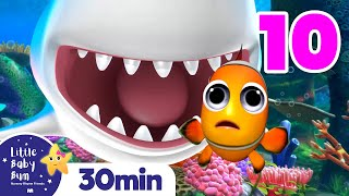 10 Little Fishes & Sharks +More Nursery Rhymes and Kids Songs | Little Baby Bum