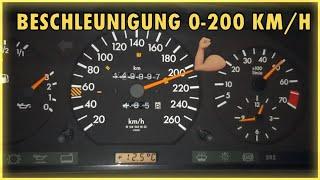 ㉦ Mercedes 124 E320 Coupé. Autobahn 0-200 Km/h Acceleration. Beschleunigung. W124 Coupé.  🚘