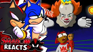 Sonic & Shadow Reacts To Pennywise Vs Groot - Cartoon Beatbox Battles!