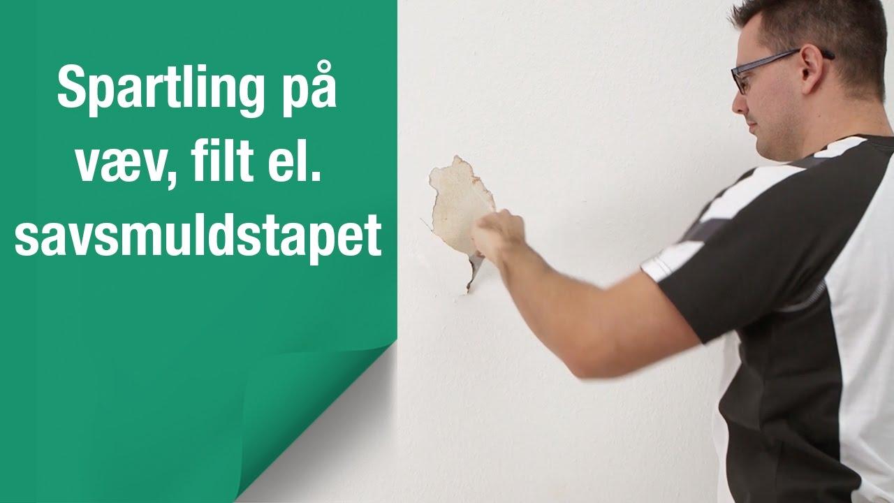 Sådan tjekker du om du kan spartle ovenpå beklædning af væv, filt eller savsmuldstapet
