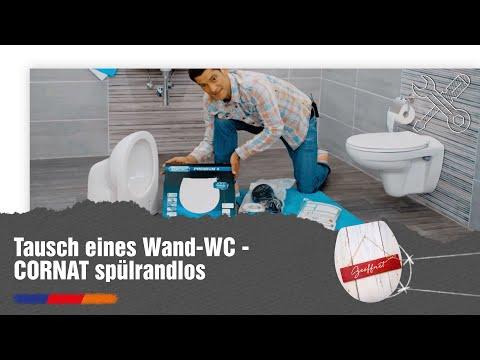 Tausch eines Wand-WC - CORNAT spülrandlos [Werbung]