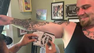 Painful Inner Bicep Tattoo.. Watch Him Cry!!