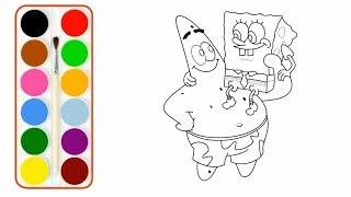 Cara Menggambar Dan Mewarnai Spongebob ฟรวดโอออนไลน ดทว