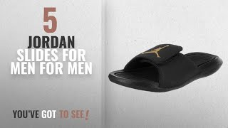 Top 10 Jordan Slides For Men [2018 ]: Jordan Nike Mens Hydro 6 Black/Metallic/Gold Sandal 13 Men US