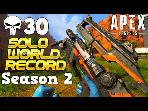 Apex Season 2 *WORLD RECORD* Solo 30+ Kills (on Console not that it matters)