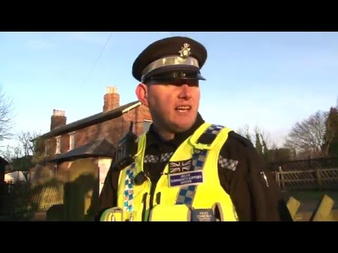 PCSO On the beat with a PCSO Police Community Support Officer