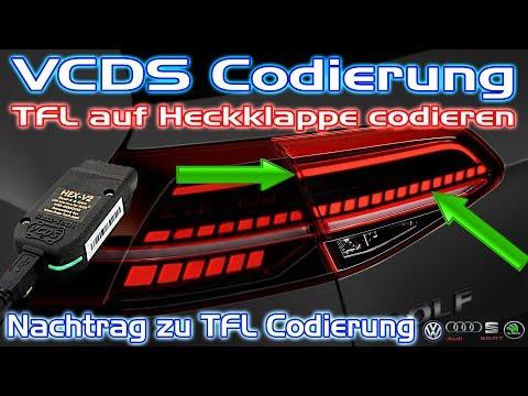 VCDS Codierung | TFL auf Heckklappen Rückleuchte codieren | Tutorial