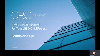 LEED O+M COVID 19 Guidance – Certification Tips