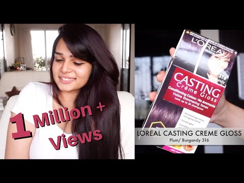 How To Color Your Hair At Home Loreal Casting Creme Gloss Plum Burgandy 316