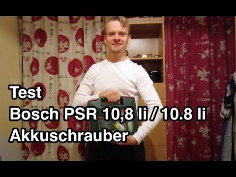 Test Bosch PSR 10,8 li / 10.8 li Akkuschrauber | Akkuschrauber Test | Bosch Akkuschrauber