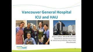 Handshake BC VGH ICU and HAU