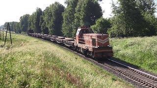 [БЧ] Тепловоз ТМЭ1-032 близ ст. Полонка / [BCh] TME1-032 near Polonka station