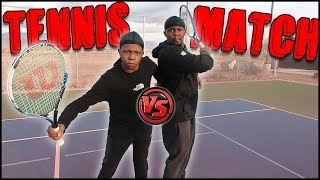 Ghetto Tennis Stars! Trent Called Me Out To A 1v1 Match!