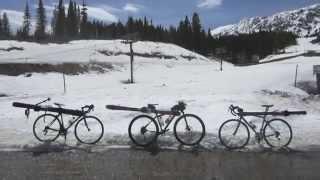 Bike and ski adventure from Bozeman to the Saddle peak