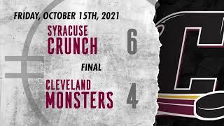 Crunch vs. Monsters   Oct. 15, 2021