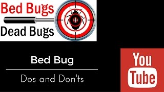 Bed Bug How To Videos Bed Bugs Dead Bugs Part 2