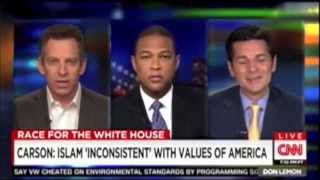 Sam Harris discute ao vivo na CNN com colunista defensor do Islã
