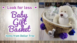 Look For Less March 2020 - DIY Dollar Tree Baby Gift Basket