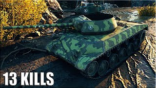Т67 бой 🌟 13 ФРАГОВ 🌟 карта: Редшир World of Tanks