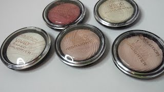 REVIEW + SWATCHES: Makeup Revolution Vivid Baked Highlighters | Samantha Shead
