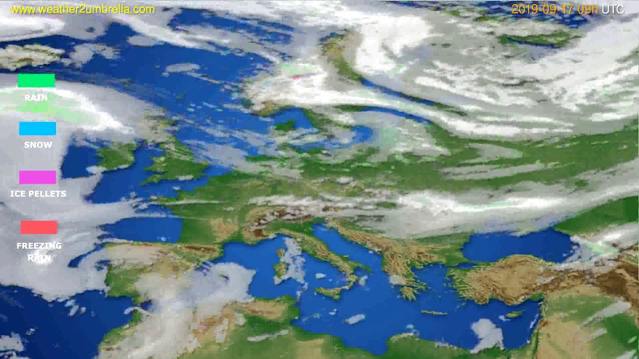 Precipitation forecast Europe // modelrun: 12h UTC 2019-09-15