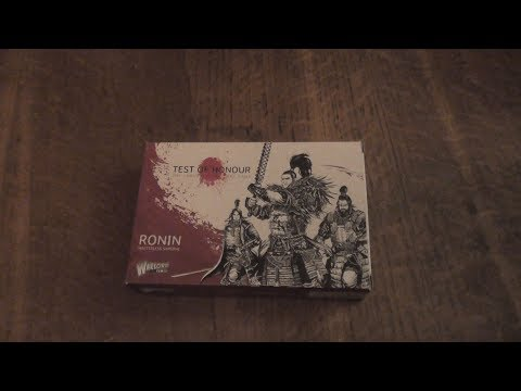An Unboxing Of The Ronin For Test Of Honour by Warlord Games