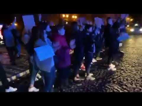 Wideo1: Zakończenie Strajku Kobiet na wschowskim Rynku (26.10.2020)